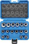 Jeu de Douilles, douze pans 12,5 mm (1/2) 8 - 24 mm 16 pieces