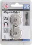 Crochet magnetique diametre 34 mm 2 pieces