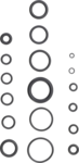 225-delige o-ring assortiment, 3-22 mm diameter