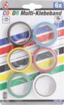 Rouleaux de bande de couleur 6 pieces
