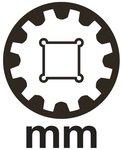 Douille pour cle, Gear Lock 12,5 mm (1/2) 8 mm
