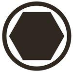 1/2 bit dop, interne hexagon 5 x 200 mm