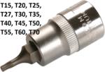 Cle a douille 12,5 mm (1/2) Profile en T (pour Torx) T15