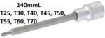 Prise 1/2 Bit, T-Star (pour Torx), T25x140 mm