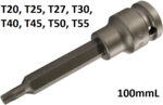 1/2 Embout Impact,torx, 100 mm long, T20
