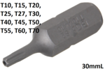 Embout TX perce T10 Bit, 30 mm long, 5/16