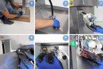 Nettoyer les pieces avec une pompe electrique