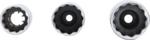 Jeu de douilles pour bougies dignition, douze pans transmission par carre femelle 3/8, 14 - 16 - 18 mm 3 pieces