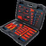 Caisse a outils pour cles a douilles VDE 26 pieces