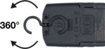 Lampe d'atelier COB-LED avec aimant et crochet repliable avec fonction de charge par induction