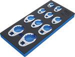 Insert de servante d'atelier 1/3 : Jeu de cles crowfoot a tuyauter 10 mm (3/8) / 12,5 mm (1/2) / 20 mm (3/4) 10 pieces