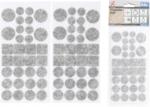 Jeu de protections antiderapants gris tachete 64 pieces