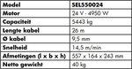 Treuil 24V, 5443kg 4,95kw 26m IP68