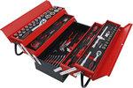 Caisse a outils metallique avec assortiment d'outils 86 pieces