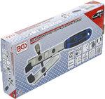 Pince pour colliers de soufflets d'essieu fonctionnement a couple coude en angle de 90°