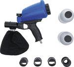 Pistolet de sablage pneumatique avec accessoires 3 pieces