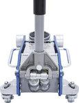 Jack en alliage hydraulique en aluminium, 2.5t., Construction en aluminium et acier
