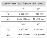 Scie a ruban stationnaire - diametre 200 mm - 45°/+60