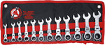 Combinaison Ratchet Ring Wrench Set, extra court, 12 pieces, Offset
