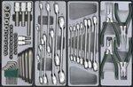 Chariot 8 tiroirs avec des outils de 325pc (E & M)