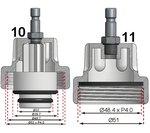 Kit de test de pression de radiateur de 18 pieces