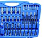Coffret de Douilles, six pans 6,3 mm (1/4) / 10 mm (3/8) / 12,5 mm (1/2) 213 pieces
