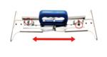 Poignee a dalles/leve-panneau 300 - 500 mm