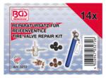 Kit de reparation pour valves de pneus 14 pieces