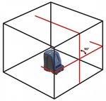 Laser ligne croix avec 2 lignes rouges
