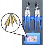 Porte-outils 1/3: cisailles en metal, perceuse a pas 5 pieces