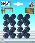 Jeu de protections antiderapants clouer diametre 24 mm 20 pieces