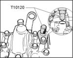 Outil de blocage du vilebrequin de BGS 8155