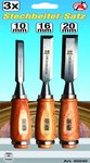 3 pieces Firmer Chisel Set 16/10/20 mm