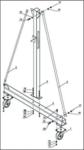 Grue portique mobile 1 ton