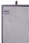 Panneau perfore plat en metal gris 120x94cm