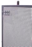 Panneau perfore plat en metal gris 150x94cm