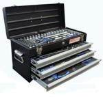 Boite outils en metal 3 tiroirs avec 143 outils