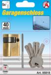 Cylindre de verrouillage de porte de garage 40 mm