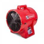 Ventilateur mobile 750 W, avec flexible de 10 m et porte-tuyau confortable