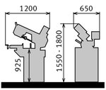 Scie ruban - 2 vitesses - sous angle 60° - 220 mm