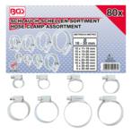 Assortiment de colliers de tuyau flexible 80 pieces