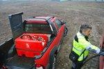 Cuve diesel rouge pe 220i, pompe 12v 40l, tuyau + pistolet auto