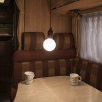 Lampe retro XL motif en bois avec cordon 90cm