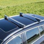 Barres de toit pour rails de toit fermes 120cm aluminium 75kg