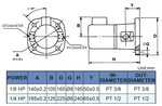 Pompe de refroidissement auto-amorcant, hauteur 240 mm, 0,18 kw, 230V