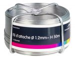 Tige d'ancrage galvanisee 1,2 mm 100 mtr-ring