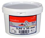 Colliers de serrage Crapal4 3,0x30 mm 5 kg