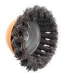 Brosse en acier en forme de cuvette torsadee diametre 65mm