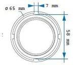 Prise pour ecrou de transmission (bus 8 vitesses) scania 65mm