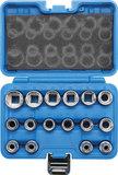 Jeu de Douilles, douze pans 12,5 mm (1/2) 8 - 24 mm 16 pièces_